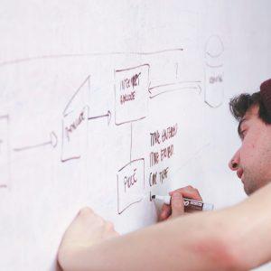 Teacher holding training in eCommerce.
